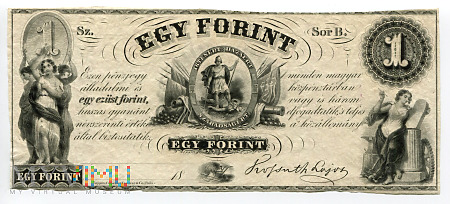 Węgry - 1 forint (1852r) UNC-