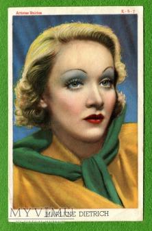 Duże zdjęcie Marlene Dietrich K-5-7 Hiszpania ulotka promocyjna