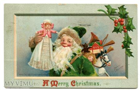 1911 Święty Mikołaj Zielony Frances Brundage