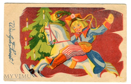 Duże zdjęcie 1949 Święta Krakowiak na koniku na biegunach