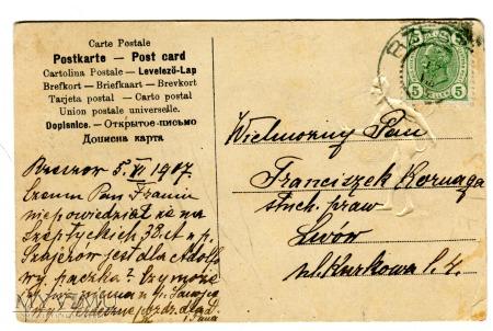 1907 mściwy Diabeł z Rzeszowa do Lwowa