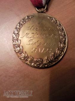 Medal strzelanie M.K. WF i PW