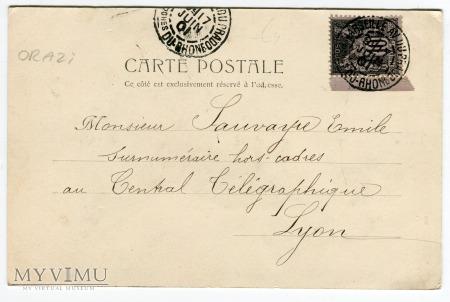 1901 Czarodziejka z różdżką secesja Lyon Francja