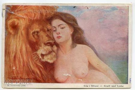Ichnowski - Siła i Miłość - Akt z lwem
