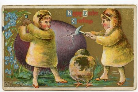 Duże zdjęcie Wesołych Świąt Wielkanocnych 1913