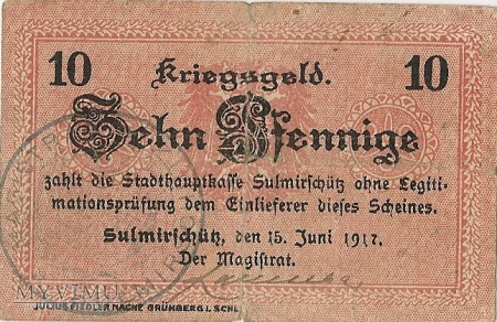 10 PFENNIG 15.06.1917