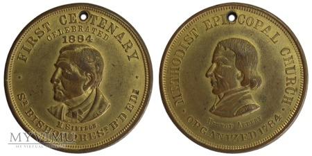 100-lecie Metod. Kościoła Episkopalnego medal 1884