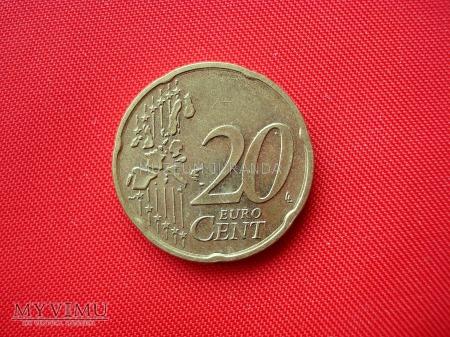20 euro centów - Luksemburg