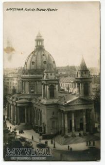 Warszawa Kościół Trzech Krzyży pocztówka
