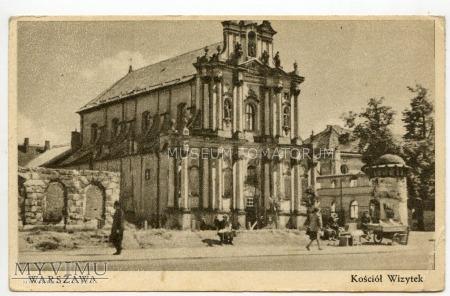 W-wa - Kościół Wizytek - 1946 ok.