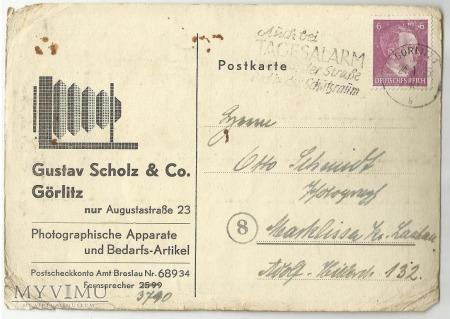 Duże zdjęcie Pocztówka-list z Gorlitz 1945