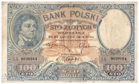 Polska - 100 złotych (1919)