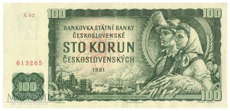 Czechosłowacja - 100 koron (1961)