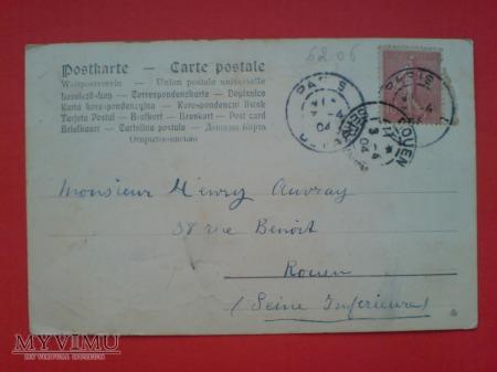 Duże zdjęcie 1904 Wielkanoc Francja Króliczki i koniczynki