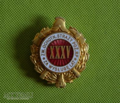 """Odznaka """"Za wysługę lat XXXV"""""""