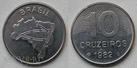 Brazylia, 10 cruzeiros 1982