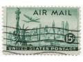 Znaczek U.S.A AIR MAIL NEW YORK 1946