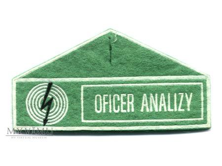 OFICER ANALIZY