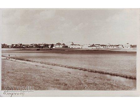 Widok na miasto z za rzeki Wełny 1939 rok