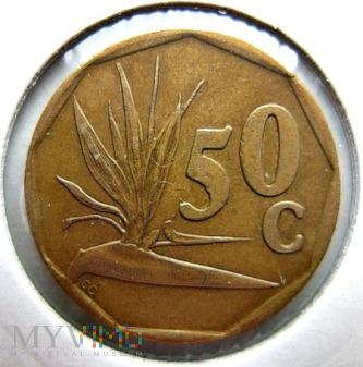 50 centów 1995 r. Afryka Południowa