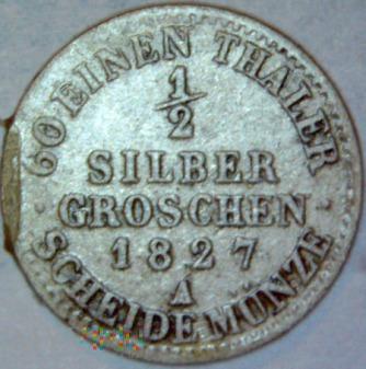 Duże zdjęcie Fryderyk Wilhelm III 1797-1840-1/2 S.GROSCHEN 1827