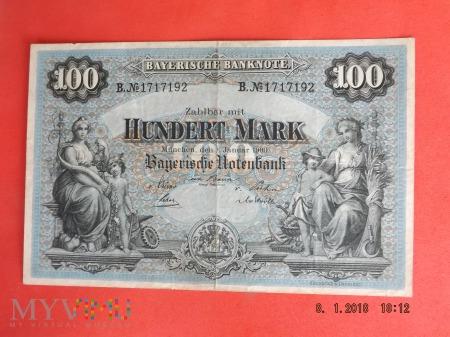Duże zdjęcie 100 Mark, 1900r. - Bayerische Niemcy