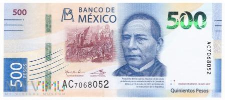Meksyk - 500 pesos (2017)