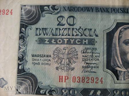 20 złotych, 1948 rok.