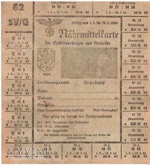 Nährmittelkarte SV/G 62 1944 Dramburg