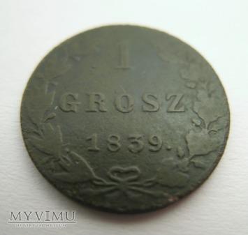 1 GROSZ - Królestwo Polskie (1839 MW)