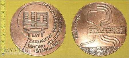 Medal kolejowy - firmowy ZNTK Stargard