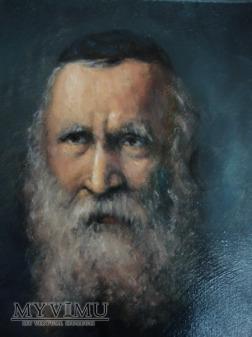 Duże zdjęcie portret żyda 24x30 olej