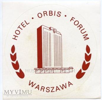 Duże zdjęcie Nalepka hotelowa - Warszawa - Hotel Forum