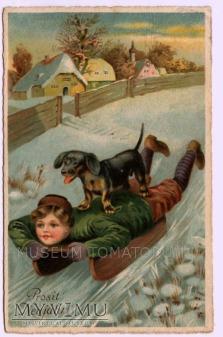 Dachshund - Jamnik przyjacielem dzieci - 1923 ?