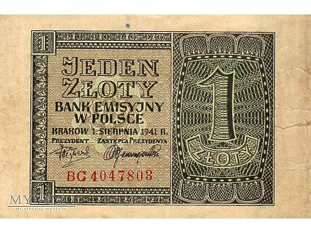 1 Złoty 01.08.1941 r.
