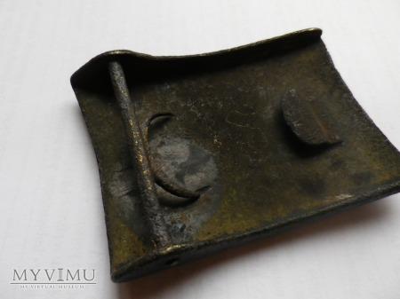 Herb Jastrzębiec-klamra żelazna z srebrnym herbem