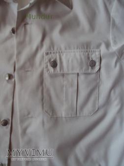 Biała koszulo-bluza DDR