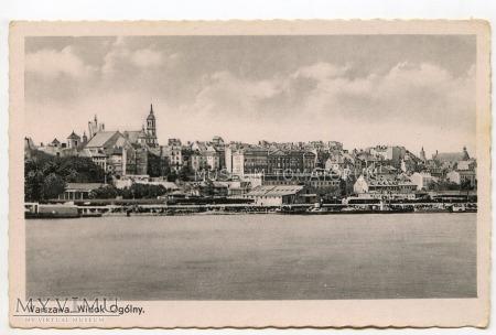 W-wa - Wisła - Stare Miasto - statek - 1930 ok.
