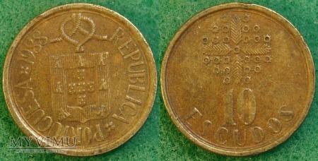 Portugalia, 10 ESCUDOS 1988