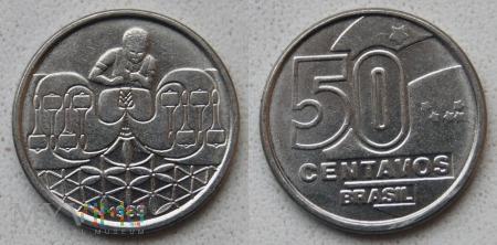 Brazylia, 50 centavos 1989