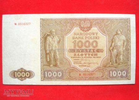 Duże zdjęcie 1000 złotych 1946 rok