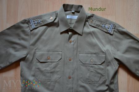 Koszulobluza khaki z krótkimi rękawami