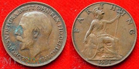 Wielka Brytania, 1 Farthing 1921
