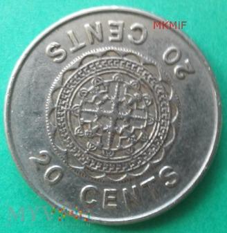 20 centów Wyspy Salomona 1989