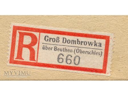 List polecony Gross Dombrowka - Dabrówka Wlk.