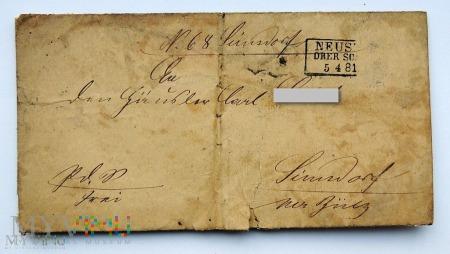 List z Neustadt 1881 roku