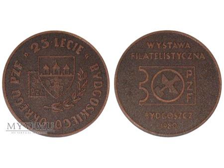 25-lecie Bydgoskiego Okręgu PZF medal 1980
