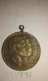 medal pamiątkowy Wilhelm II z żoną