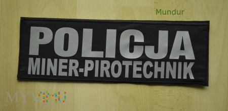 Emblemat odblaskowy POLICJA miner-pirotechnik