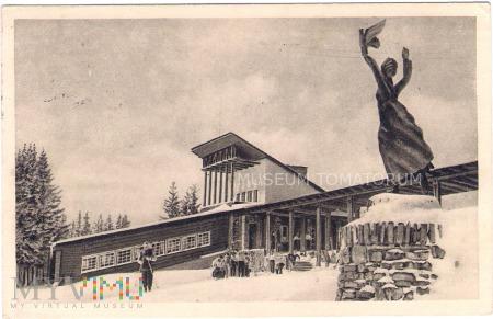 Zakopane 1954 - Gubałówka - Stacja i rzeżba